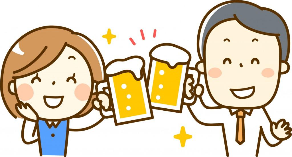Drinking a toast