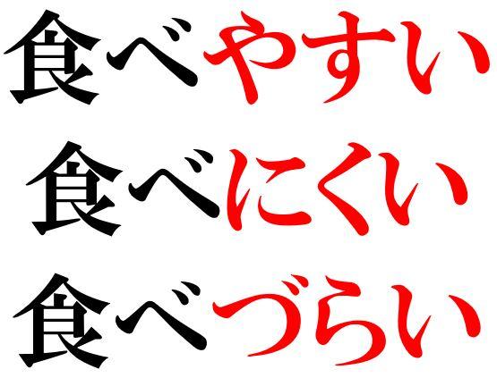 Japanese Grammar: やすい にくい
