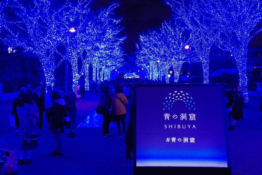 Christmas illumination in Tokyo.